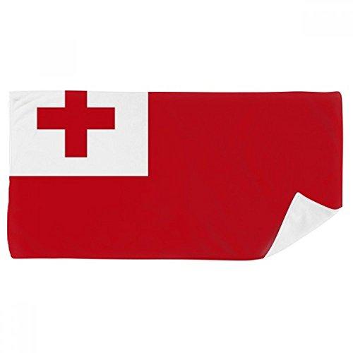 DIYthinker Tonga National Flagge Ozeanien Land Badetuch weichen Waschlap Kulli Waschlap Kulli 35X70Cm 35 x 70cm Mehrfarbig