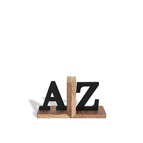 Aparador de Livros AZ, Preto/Pinus, Geguton