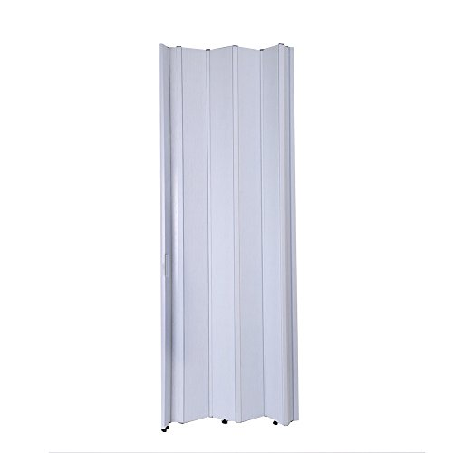 Tuff Concepts PVC Folding Doors Accordion Magnetic Catch White Gloss for Kitchen Bathroom Cupboard (6mm Brown)