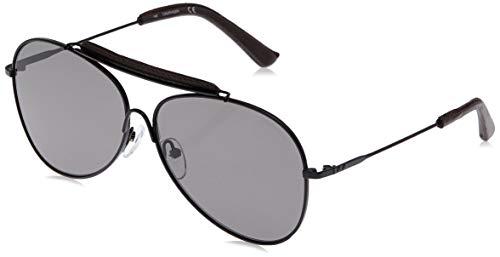 Calvin Klein CK18100S Sonnenbrille 1 Aviator 60, Schwarz