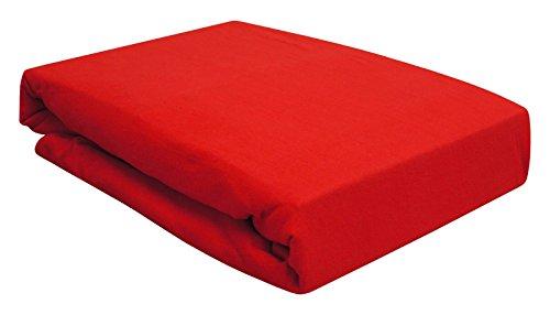 Arle-Living Spannbettlaken für Wasserbett/Boxspring/Übergrößen 180-200x200-220 cm Rot (rot/red/Rouge)