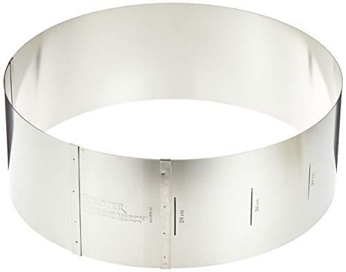 Städter Tortenring verstellbar, Edelstahl, Silber, 18 x 18 x 10 cm