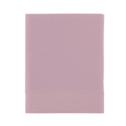 Essix - Housse de couette Royal Line Percale de Coton Rose poudre 200 x 200 cm