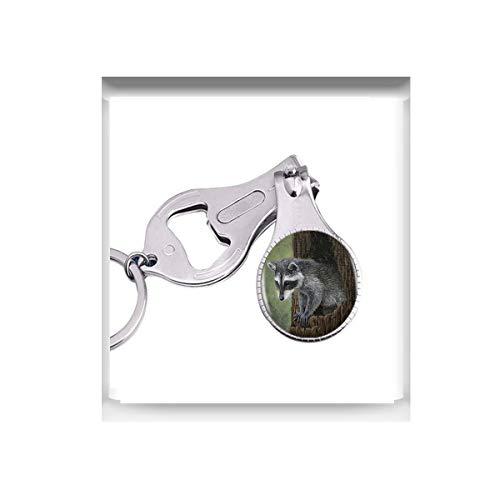 bab Halskette mit Waschbär-Logo-Anhänger, Cartoon-Tier-Schmuck, 1 Nagelschere