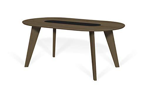 TemaHome Table de Salle à Manger Lago, MDF, Noyer et Noir, 180 x 100 x 75 cm (L x P x H)