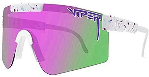 QINGBAO Pit Viper - Gafas de sol para ciclismo al aire libre, gafas de sol polarizadas UV400 para mujeres y hombres (S20)