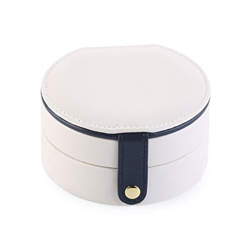 Sieradendoos, leer, reizen, cosmetica, opbergen, 2 lagen, organisator, weergave met spiegel, klein formaat, geschenkdoos B
