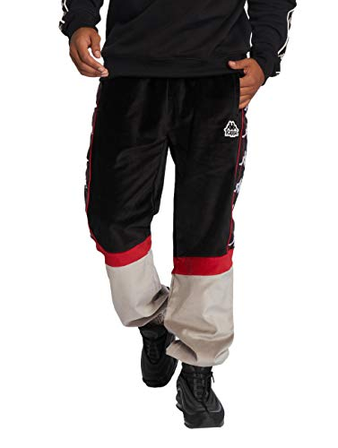 Kappa Serena Authentic Pantaloni, Negro/Rojo, XL Uomo