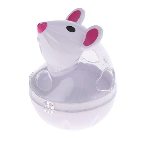 Homyl Katzenspielzeug, Maus Form Stehauf, Futterspender Futterspielzeug Snack Spielzeug Interaktives Spielzeug für Katzen Kätzchen