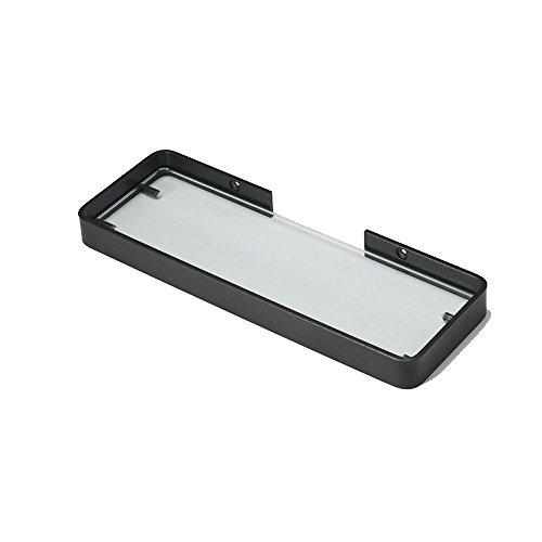 Estante de baño de baño de aluminio Punch libre de aluminio Estante, estante de almacenamiento de vidrio montado en la pared.Estantes de baño (Tamaño: 25 cm) Leyue (Size : 35cm)