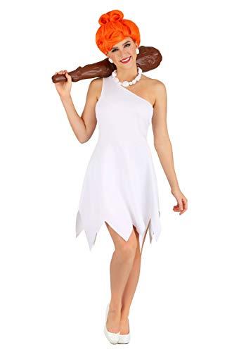 Disfraz clsico de Wilma de Picapiedra para mujer - blanco - Large
