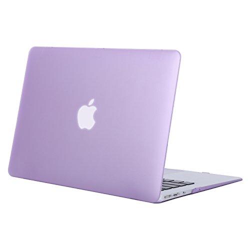 MOSISO Hülle Kompatibel mit MacBook Air 13 Zoll - Ultra Slim Hochwertige Plastik Hartschale Schutzhülle Kompatibel mit MacBook Air 13 Zoll (A1369 / A1466, 2010-2017 Version), Helles Lila
