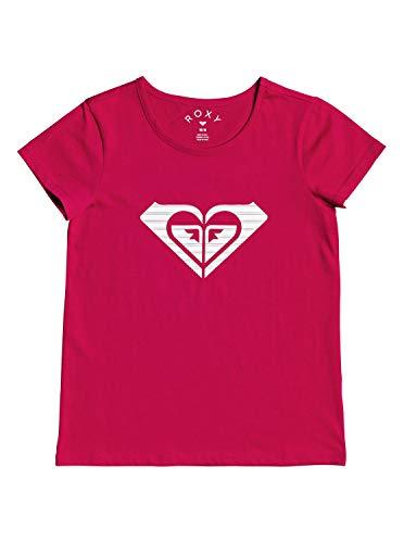 Roxy Endless Music Print A-T-Shirt pour Fille 4-16, Cerise, FR : L (Taille Fabricant : 12/L)