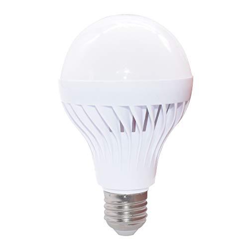 LED Globe Ampoule E27 Lampe Intelligente Automatique Capteur de Lumière Sonore LED Puissante Ampoule (9W, Lumiere Blanche)