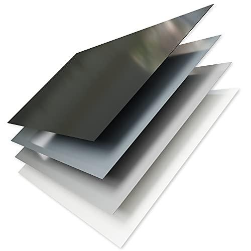 A+H Hart PVC Kunststoff Plastik Platte - Größe 2x1m - Stärke 1mm oder 2mm - Polyvinylchlorid kein Schaum - mit Schutzfolie in weiß seidenmatt - verschiedene Farben (weiß, 1mm)