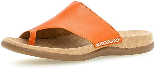 Gabor Damen ClogsPantoletten, Frauen Clogs,Best Fitting, Freizeit leger Slipper Slides Zehentrenner Hausschuh gartenschuh Damen,orange,39 EU / 6 UK