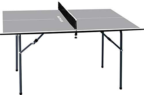 Sunflex Tischtennis Tisch MIDI grau inkl. Netzgarnitur | Größe: 110x61,5x65cm | Indoor | Praktisch zum Mitnehmen mit einklappbaren Füßen