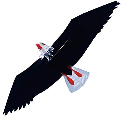 ZDAMN Cometa Águila Cometa con Mango línea águila Kite Bar Kit Kite surfeando Cometa para Niños (Color : Black, Size : 215x80cm)