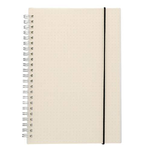 Bodhi2000 - Cuaderno de espiral suave (A5/A6, tapa de polipropileno transparente, rellenable, hojas sueltas, diario, agenda, escuela, oficina, papelería, color D A6