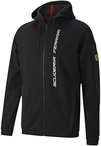 PUMA Formula 1 Scuderia Ferrari Race - Sudadera con capucha para hombre, color negro, XL
