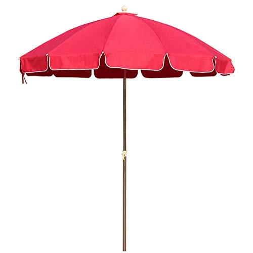 AABBC Sombrilla para jardín al Aire Libre, sombrillas Redondas Extra Grandes de Altura Ajustable con 12 Costillas, 2.8 m (9.2 pies) (Color: Rojo)