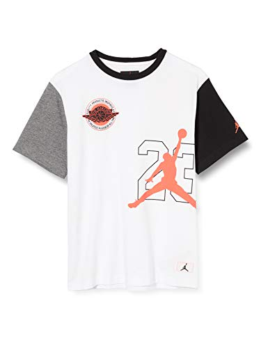 NIKE Jdb Jordan Bof tee - Camiseta para niño, Niños, Camiseta, 957311, Blanco, 8-10Y