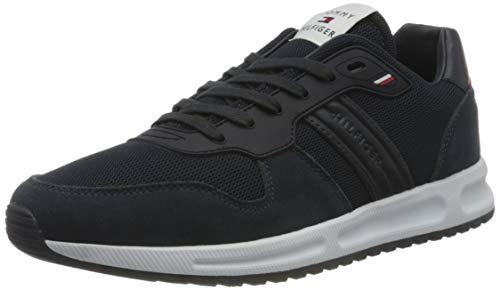 Tommy Hilfiger Herren MODERN Corporate Mix Runner Sneaker, Wüstenhimmel, 44 EU