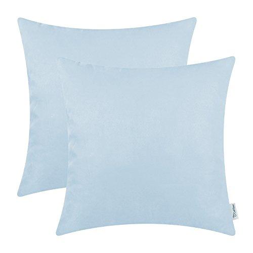 light blue couch pillows - 9