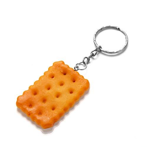 Rechteck-Keks Schlüsselring/Schlüsselanhänger - Rectangle Biscuit