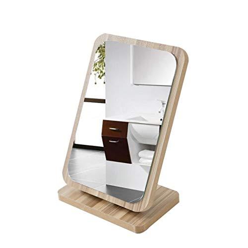 XYZX rechthoek make-up spiegel aanrecht, spiegel landelijke stijl houten frame rustieke afwerking voor dressoir slaapkamer badkamer kantoor decoratieve