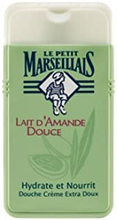 Le Petit Marseillais 6 Bottles of Body Wash Your Choice, French Shower Cream 8 Varieties 250ml (8.4oz) (Lait d'Amande Douce (Sweet Almond Milk))