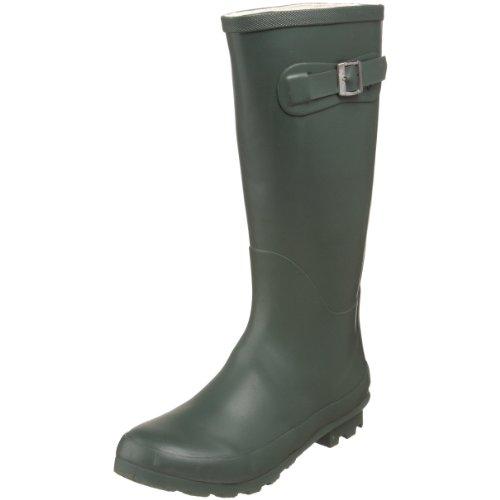Chinese Laundry womens Bog rain boots, Hunter Green, 5.5 US