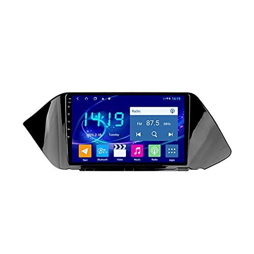 2 DIN Radio Coche con 9 Pulgadas Pantalla Táctil para Hyundai Sonata DN8 2019-2020, Autoradio con Bluetooth/GPS/FM/USB, Apoyo De Control del Volante, Enlace De Espejo,Quad Core,4G WiFi 1+32