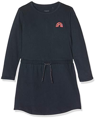 Noppies Mädchen G Dress ls Comy Kleid, Blau (Dark Sapphire P208), (Herstellergröße: 116)