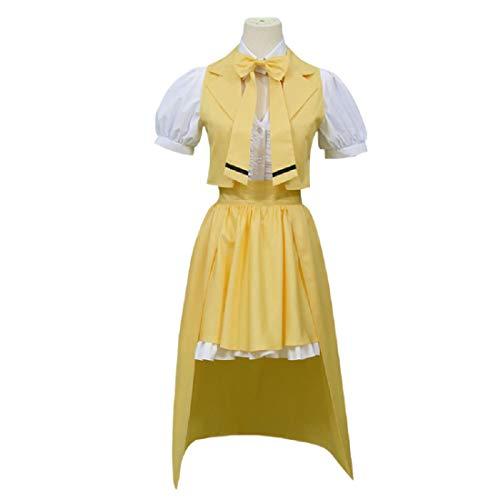 YYFS Costume Anime Cosplay, Anime Cosplay Uniform, Fiesta De Halloween, Vestido Amarillo, Vestido De Camisa,Clothing Suit -Large