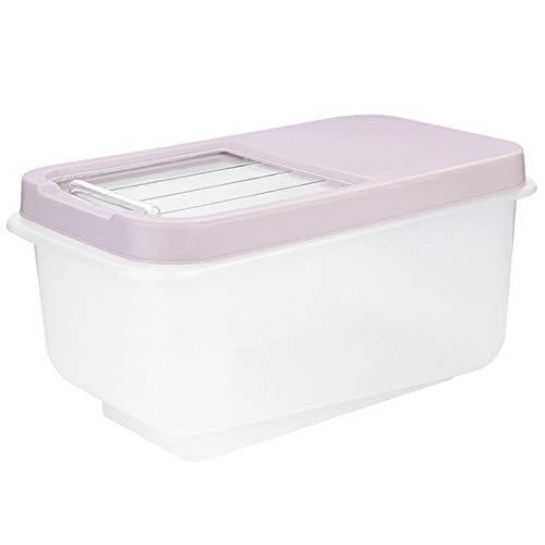 Cikuso Cubo Plastico del Arroz 10Kg A Prueba De Humedad Gabinete De...