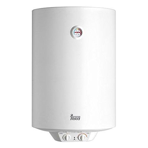 Teka 42080080 Termo Eléctrico | 1500 W | 80 L | Blanco | Clase de eficiencia energética D | Modelo Ewh80 | Tanque esmaltado | Resistencia Ceramica | Termostato Temperatura 30-75º