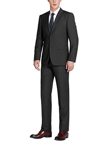 Chama Black Classic Fit Suit