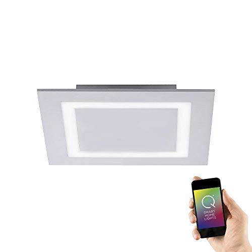 Paul Neuhaus, LED Deckenleuchte, Smart Home, RGB+W, quadratisch, Aluminium, IP20, Innenbeleuchtung, dimmbar, inkl. Fernbedienung