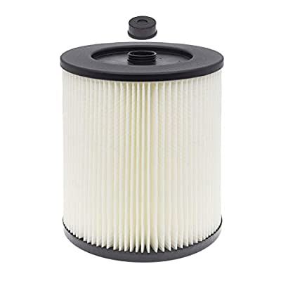 Wocase 917816 HEPA Cartridge Filter Replacement, Compatible with Craftsman 9-17816, Fits 5 Gallon & Larger Wet/Dry General Purpose Vacuum Cleaner