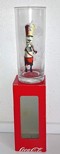 /Coca-Cola Vasos de cristal, trompeta, retro, originales, cartón.