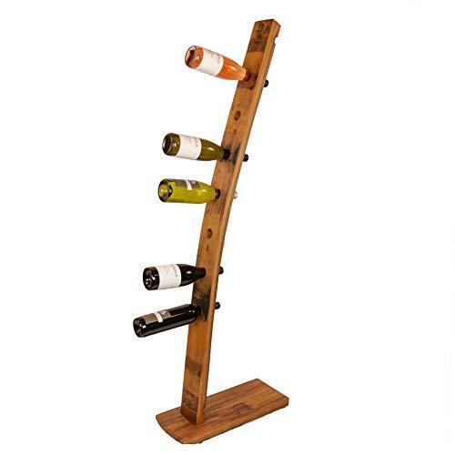 """Palatina Werkstatt handgefertigtes WeinSegel"""", aus den Fassdauben von Alten Weinfässern gefertigt, dekorativer Weinflaschenhalter aus der Pfalz (L)"""