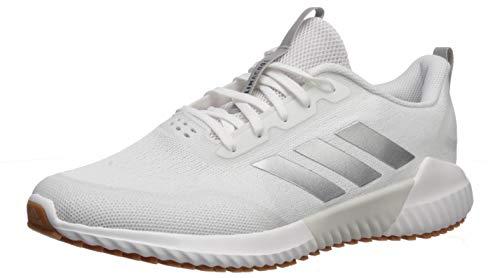 adidas Men's Edge Runner Running Shoe, White/Silver Metallic/Grey One, 9.5 Medium US