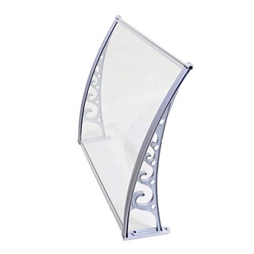 Deurraam Canopy PC polycarbonaat deur canopy luifel, bescherm je entree tegen sneeuw en regen 60×100cm D