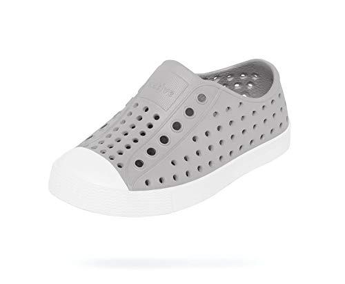 Native Shoes, Jefferson Child, Kids Lightweight Sneaker, Pigeon Grey/Shell White, 2 M US Little Kid