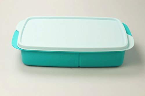 Tupperware Lunchbox 1 L helltürkis mit Trennwand Clevere Pause Schule MIT Geschenk 36609