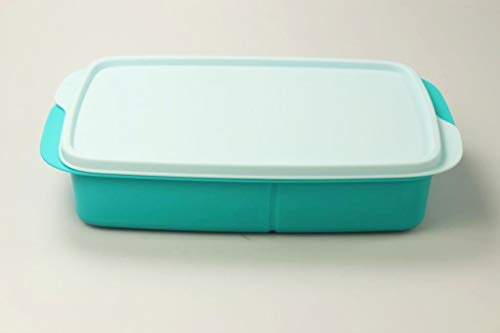 Tupperware Clevere Pause to Go Lunchbox 1L helltürkis mit Trennwand Schule 36770