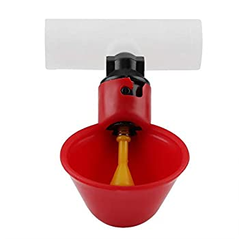 FTVOGUE Abreuvoirs automatiques au Poulet Abreuvoirs avec Tasses Bols Distributeur d'eau Potable Mangeoire à Oiseaux(20mm / 0.7in)