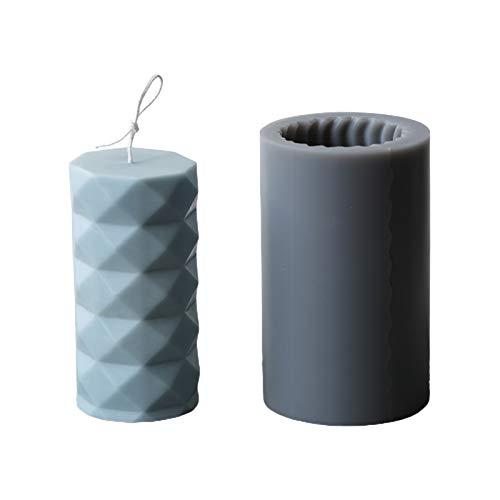 Boji Kerzengießform, Silikon-Form Für Kerzen/Seife/Backformen, Zylinderförmig, Ideal Zum Basteln Von Kerzen, Seife Und Backen