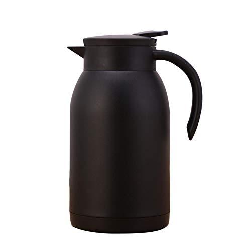 ALEOHALTER Jarra térmica Pot Retención de calor Acero inoxidable 1200ml (negro)